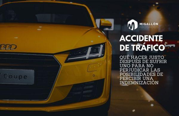 ¿Qué debo hacer después de un accidente de tráfico?